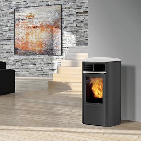 po le granul s canalisable suros cnlz acier 8kw natur 39 chauffage. Black Bedroom Furniture Sets. Home Design Ideas
